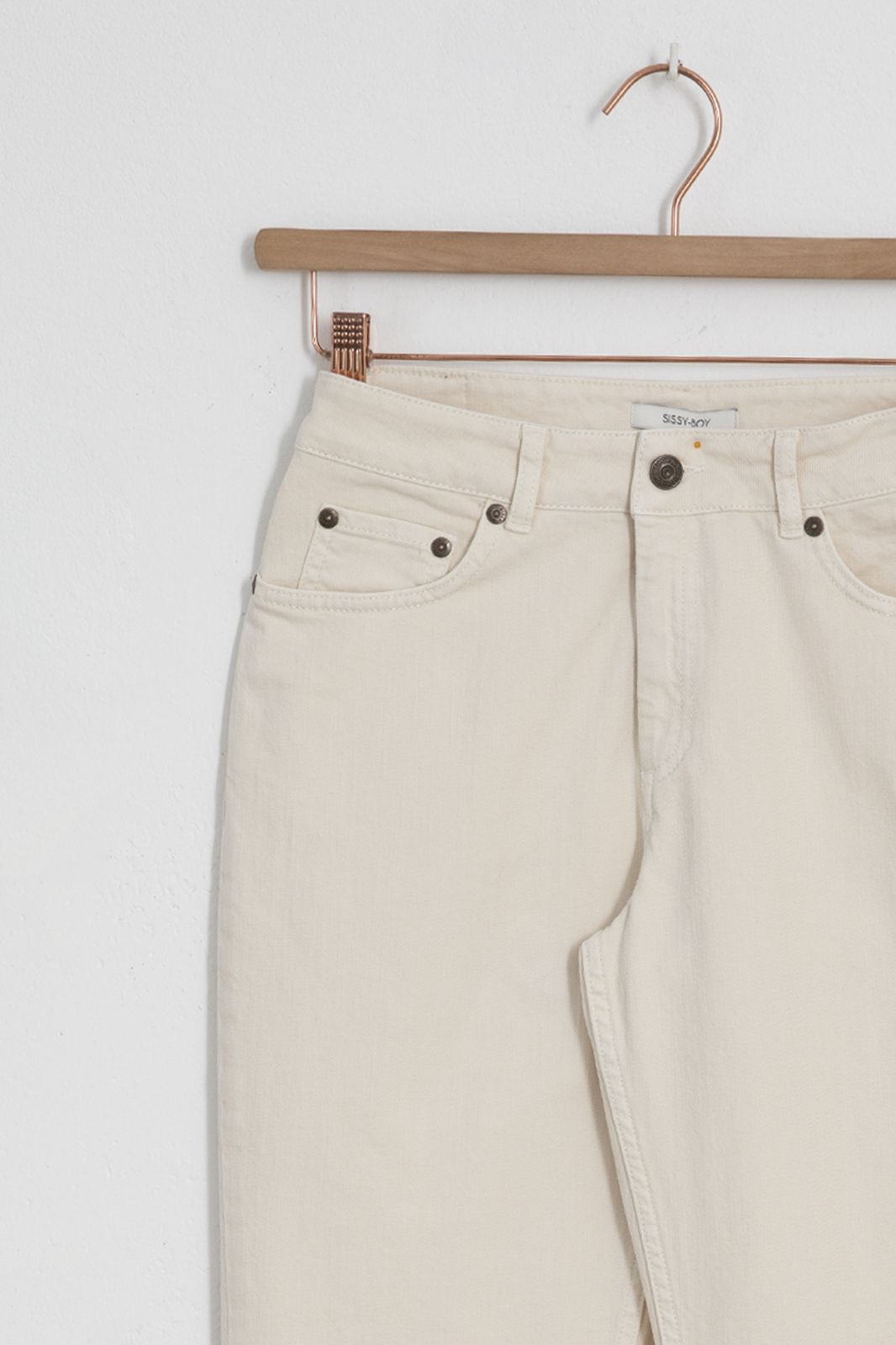 Offwhite 5-pocket jeans