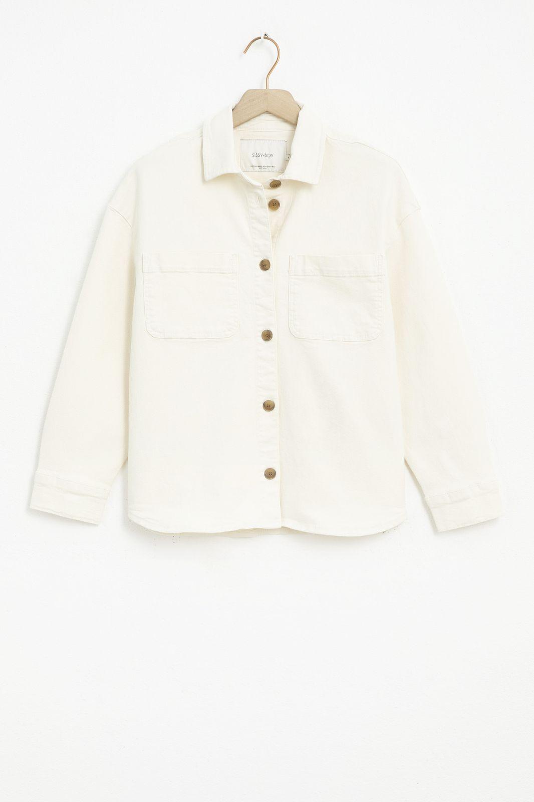 Ecru denim overshirt - Dames | Sissy-Boy
