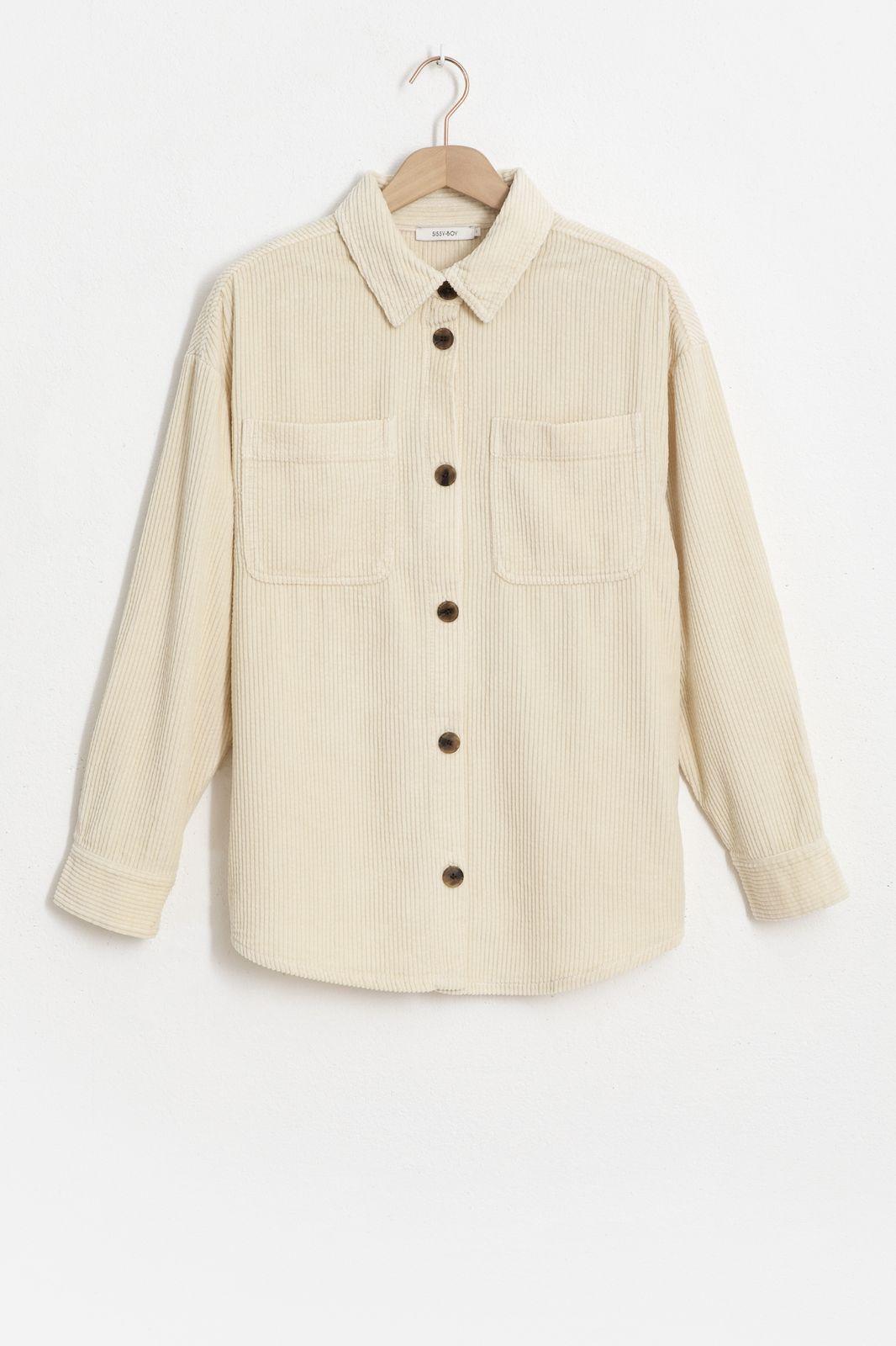 Geel oversized corduroy overshirt - Dames | Sissy-Boy