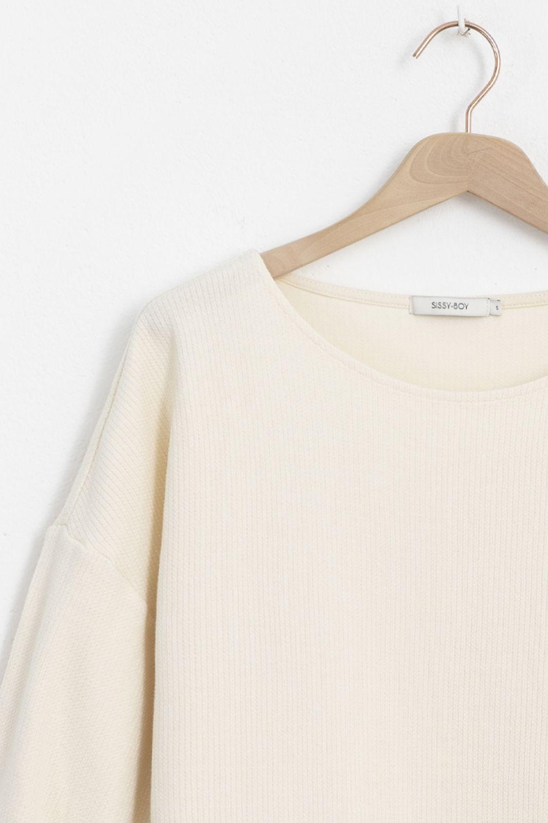 Longsleeve t-shirt met knoopdetail wit - Dames | Sissy-Boy