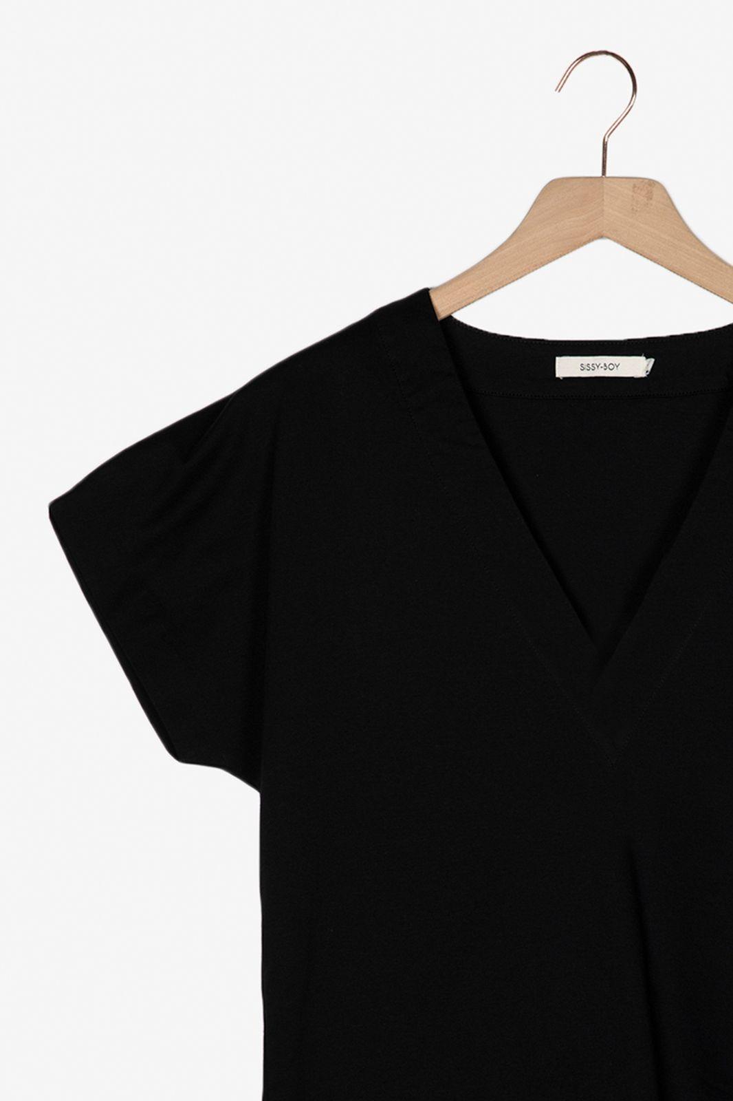 Zwart katoenen T-shirt