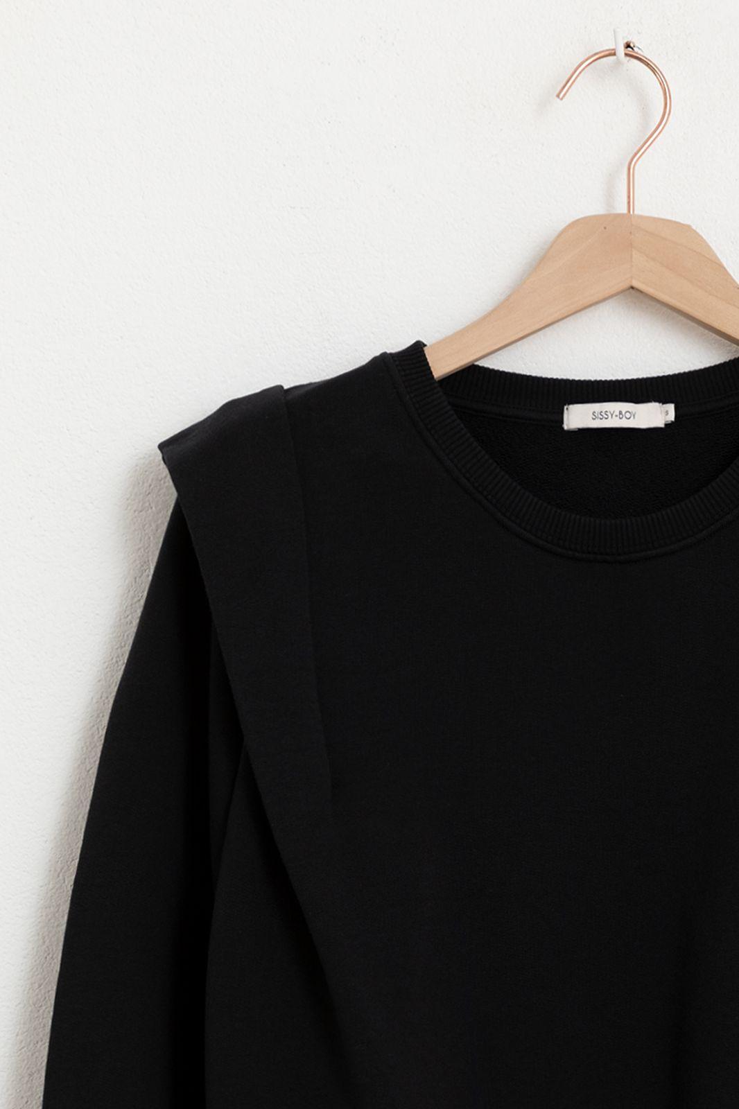 Zwarte sweater met schouder details