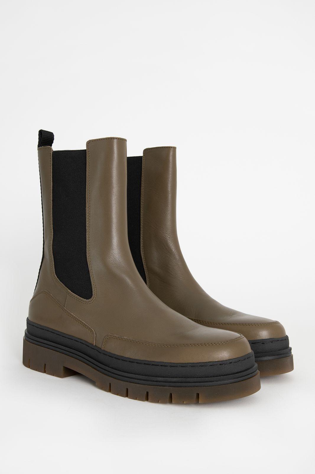 Groene chelsea boots met chunky zool - Dames | Sissy-Boy