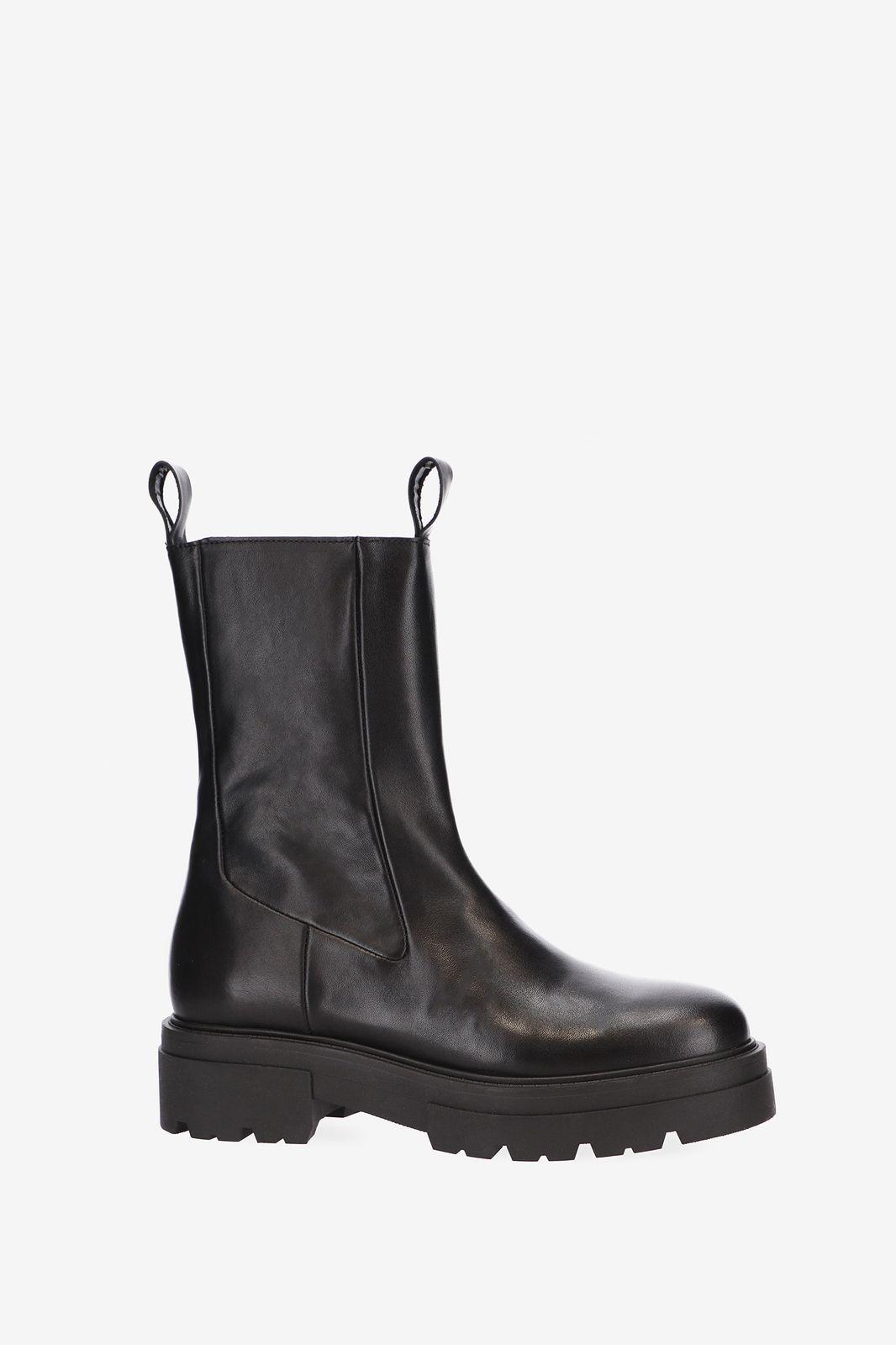 Zwarte chunky biker boots - Dames | Sissy-Boy