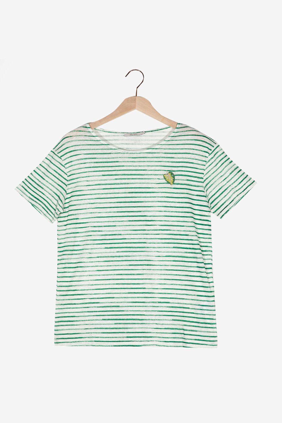Groen gestreept T-shirt - Dames   Sissy-Boy