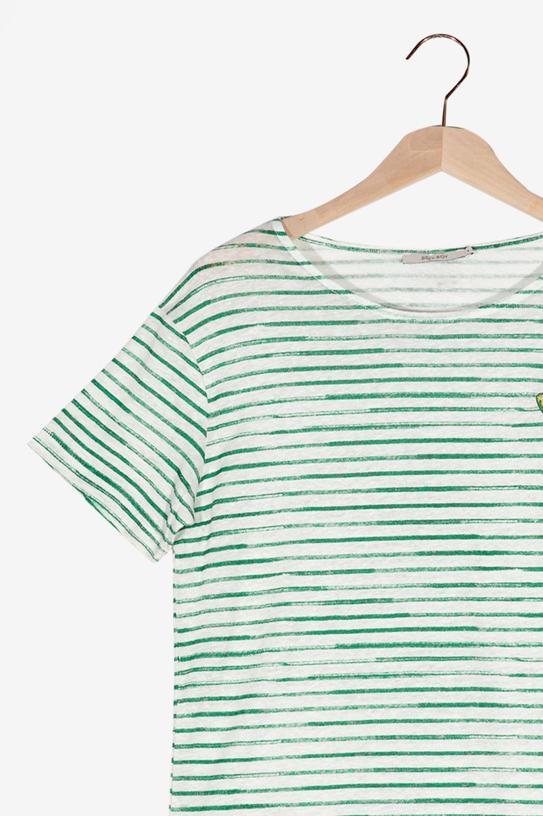 Groen gestreept T-shirt - Dames | Sissy-Boy