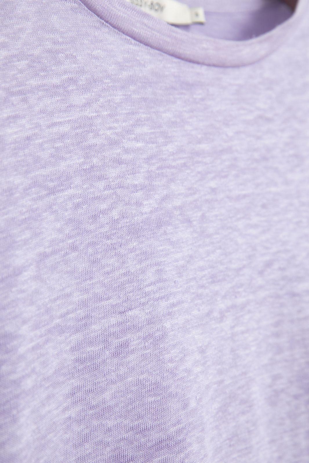 Lila T-shirt met flair mouw - Dames | Sissy-Boy