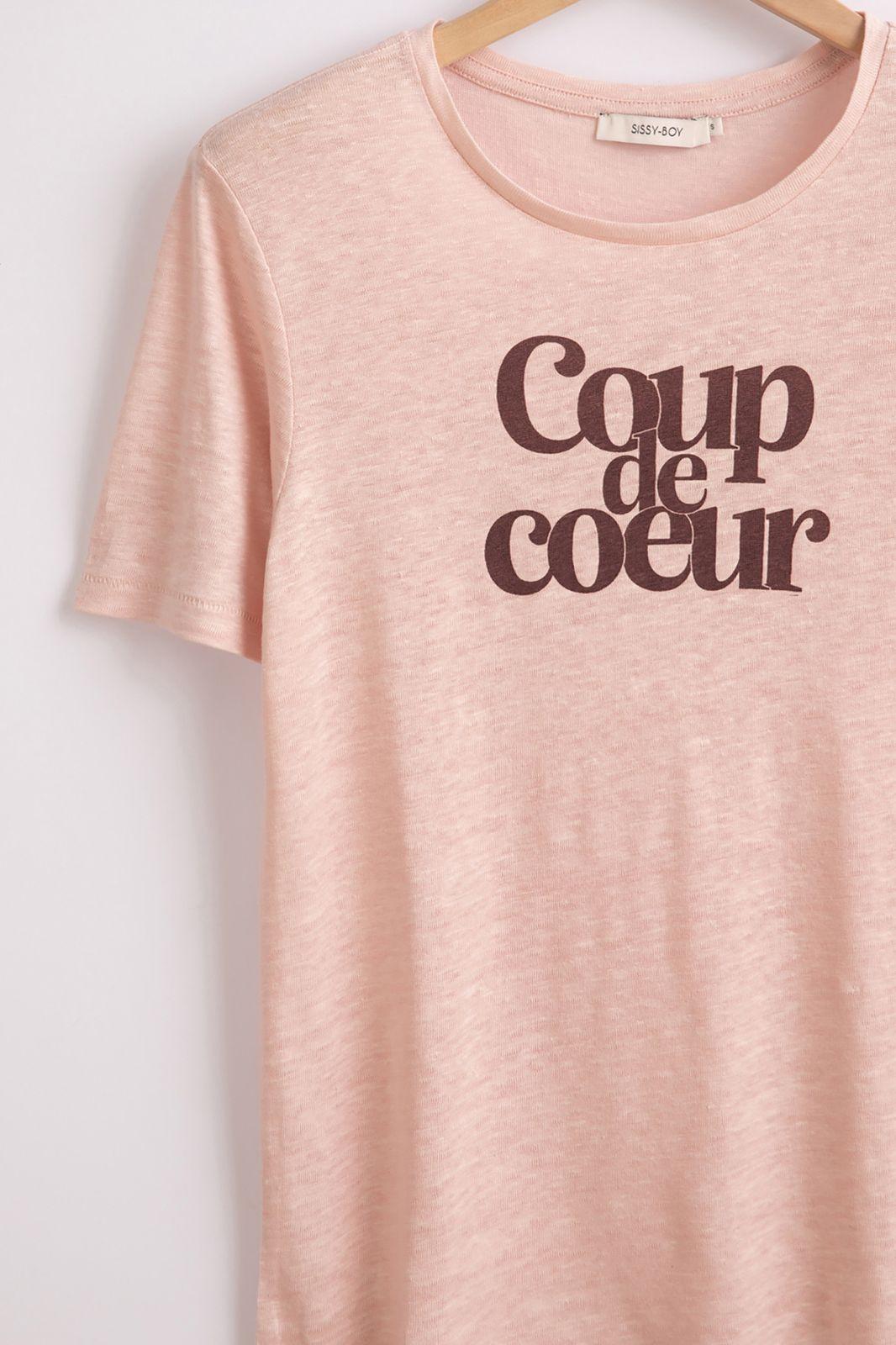 Roze t-shirt met tekst