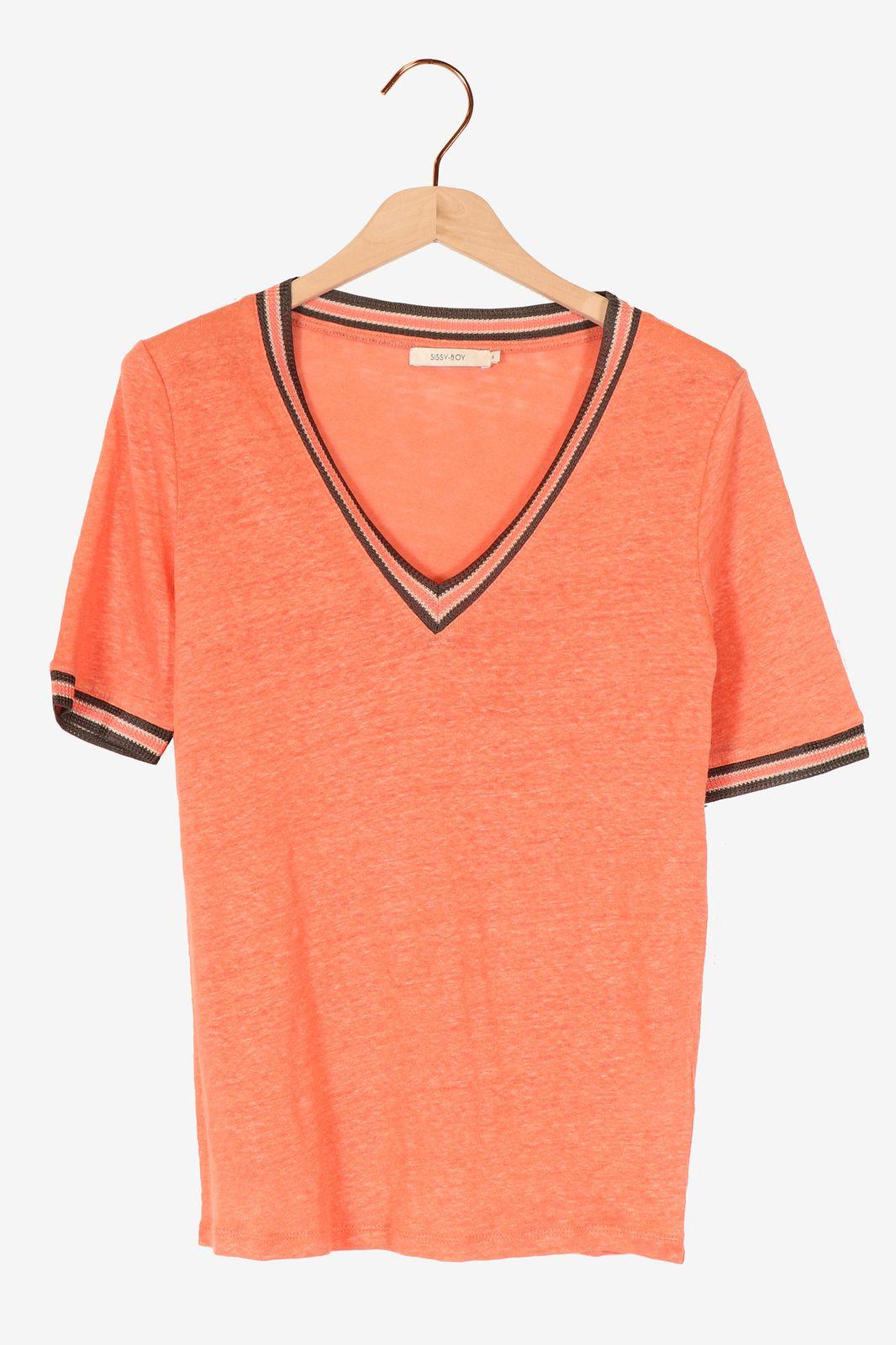 Roze t-shirt linnen