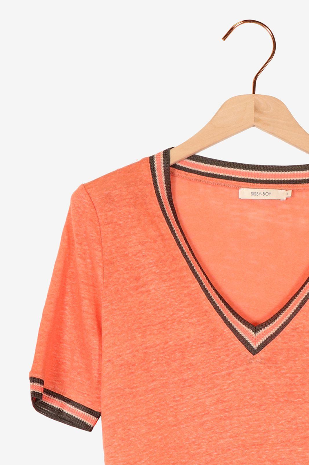 Roze t-shirt linnen - Dames | Sissy-Boy