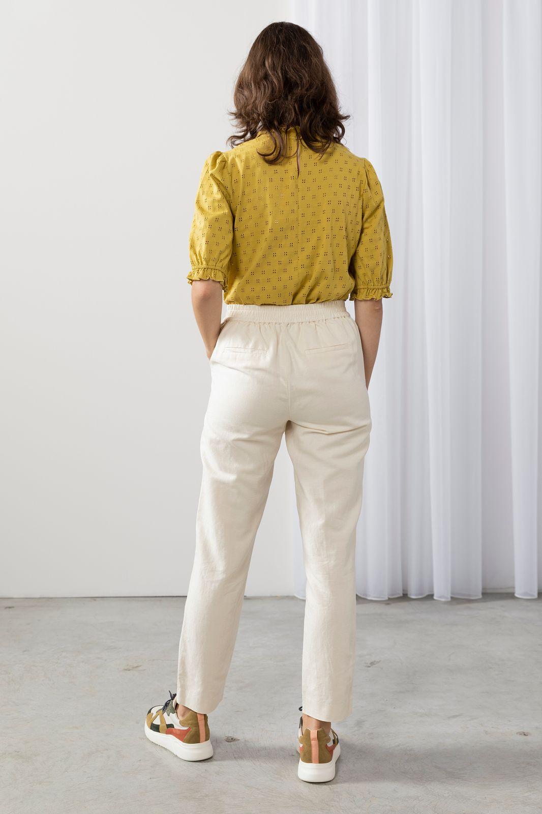 Offwhite linnen broek