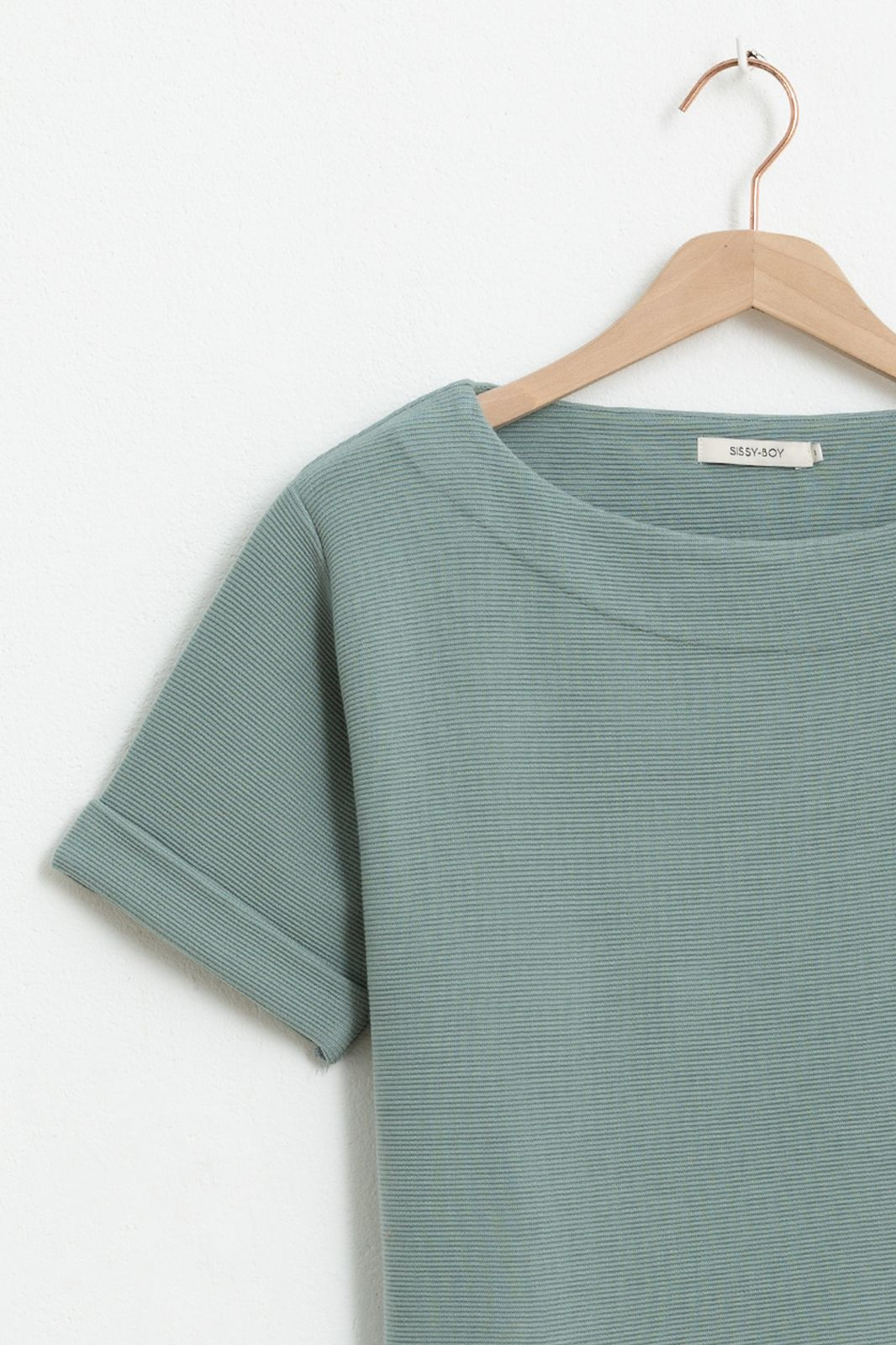Groen boxy fit T-shirt - Dames | Sissy-Boy
