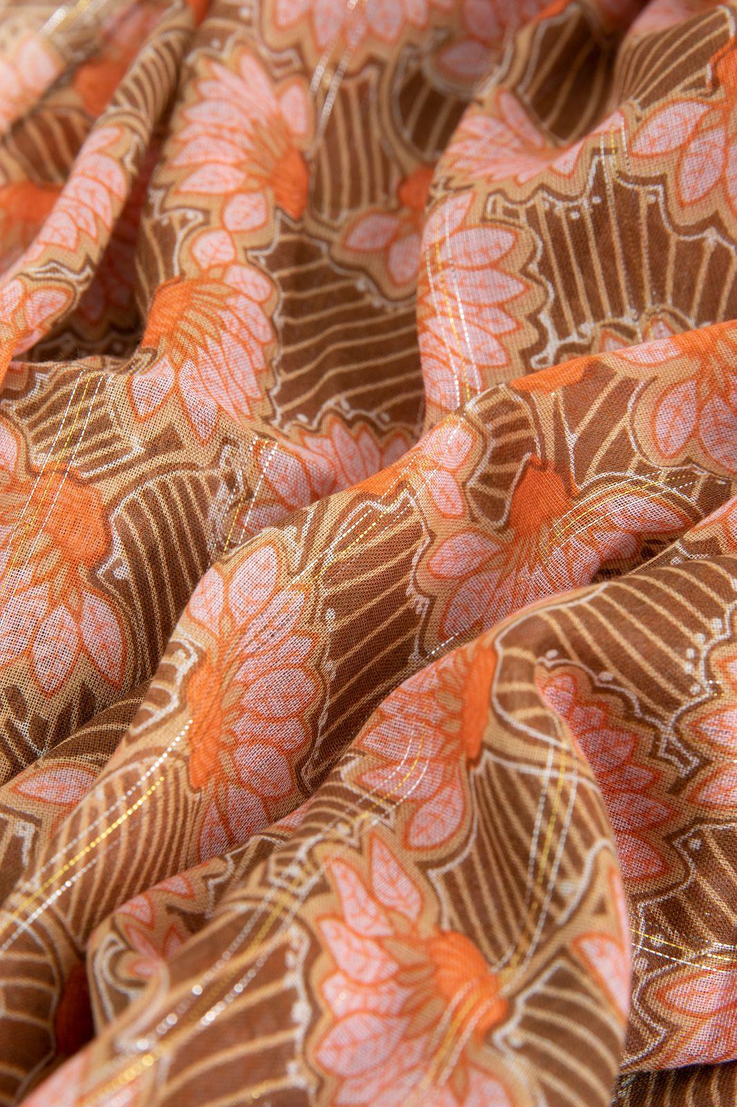 Sjaal met all over bloemenprint en tassels - Dames   Sissy-Boy