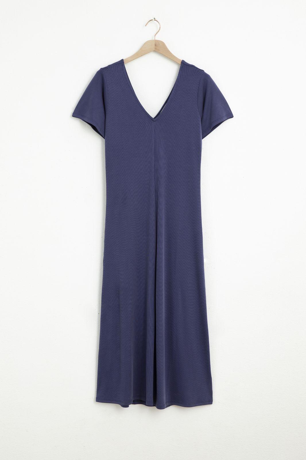 Donkerblauwe basic maxi jurk - Dames | Sissy-Boy
