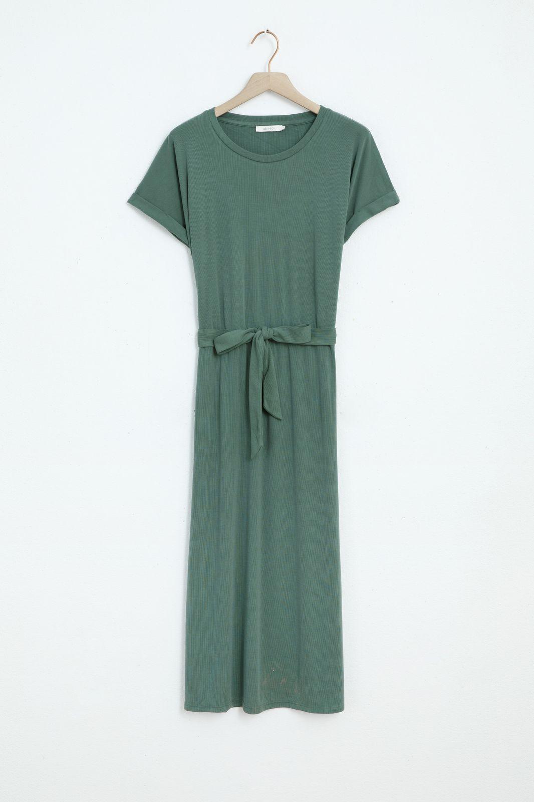 Groene jersey jurk - Dames   Sissy-Boy