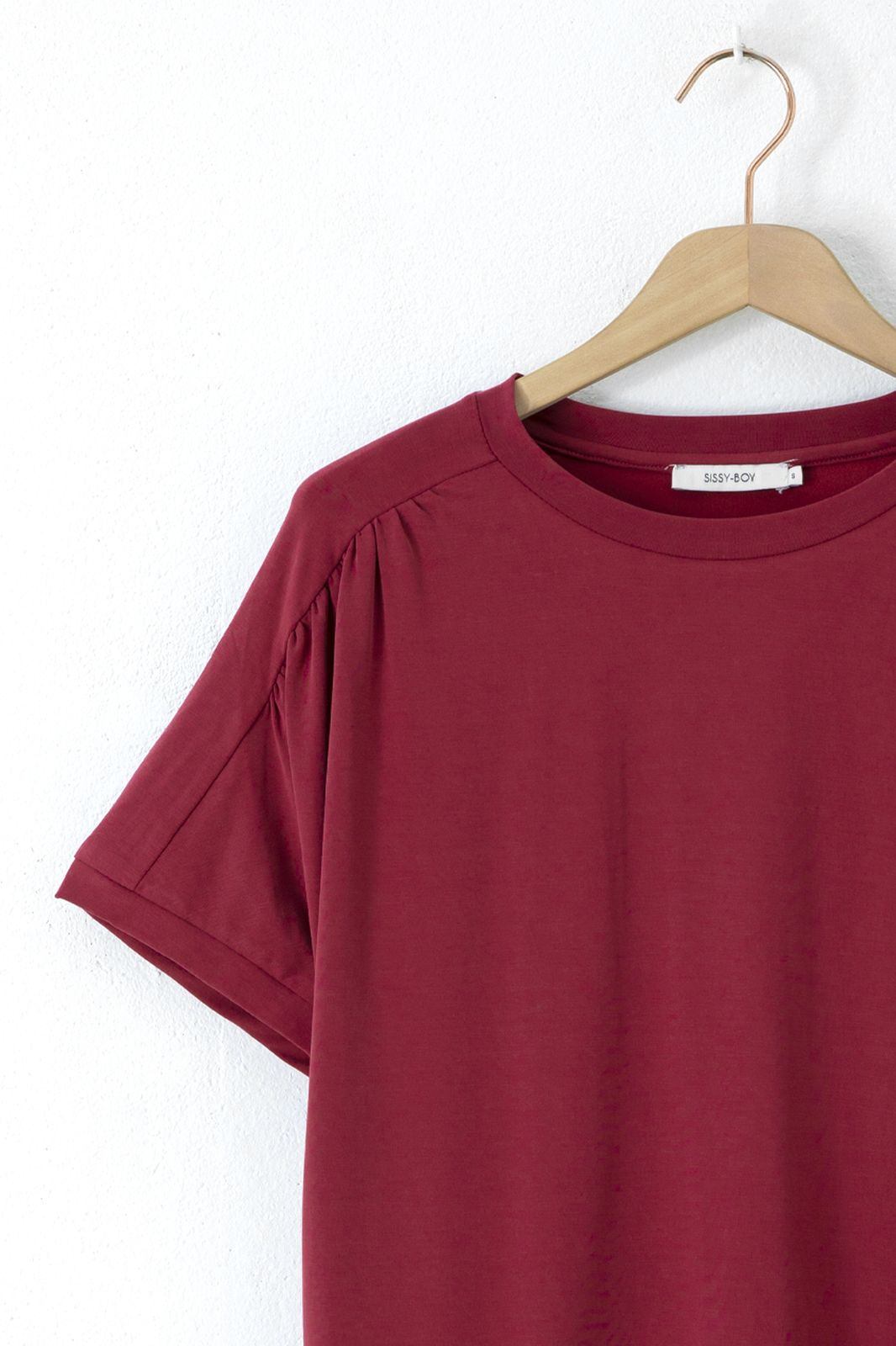 Donkerrood T-shirt met korte mouwen - Dames   Sissy-Boy