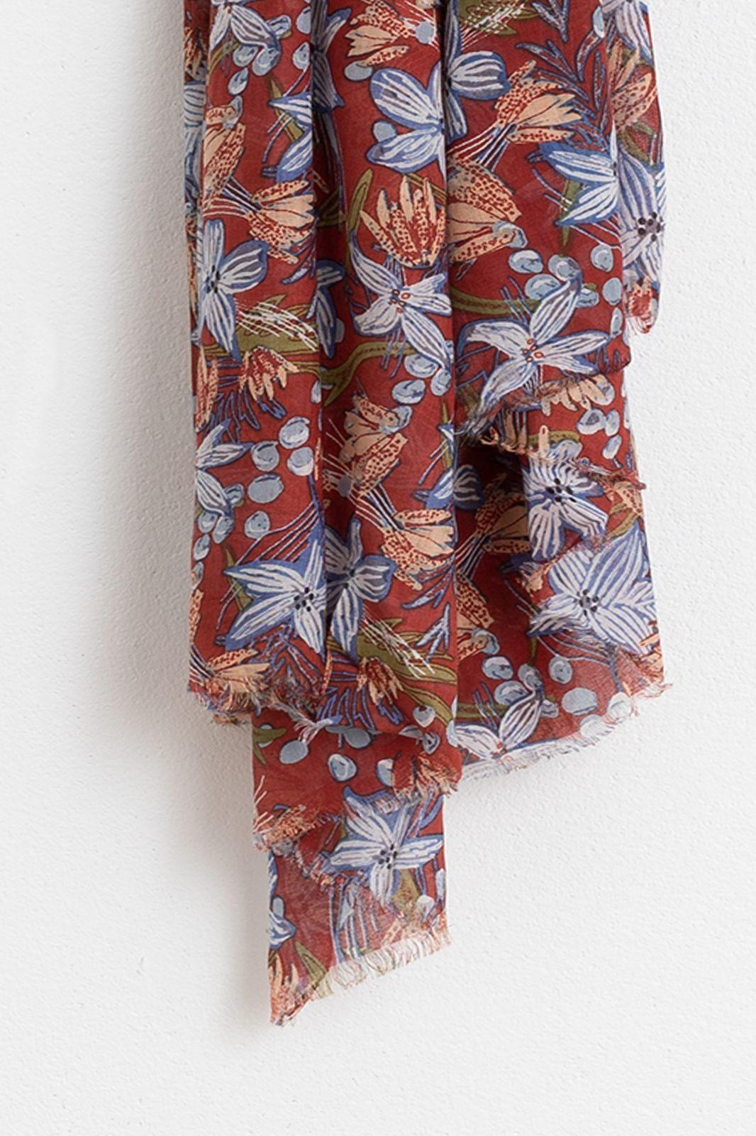Rode sjaal met bloemenprint - Dames | Sissy-Boy