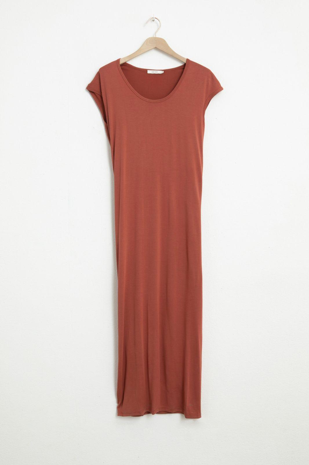 Rode jersey jurk