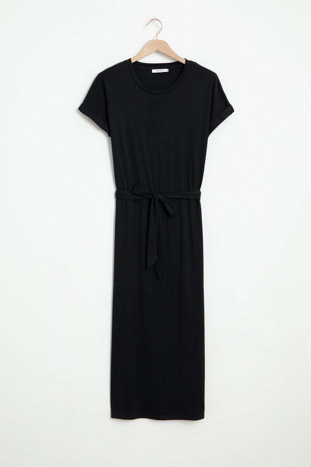 Zwarte jersey jurk - Dames   Sissy-Boy