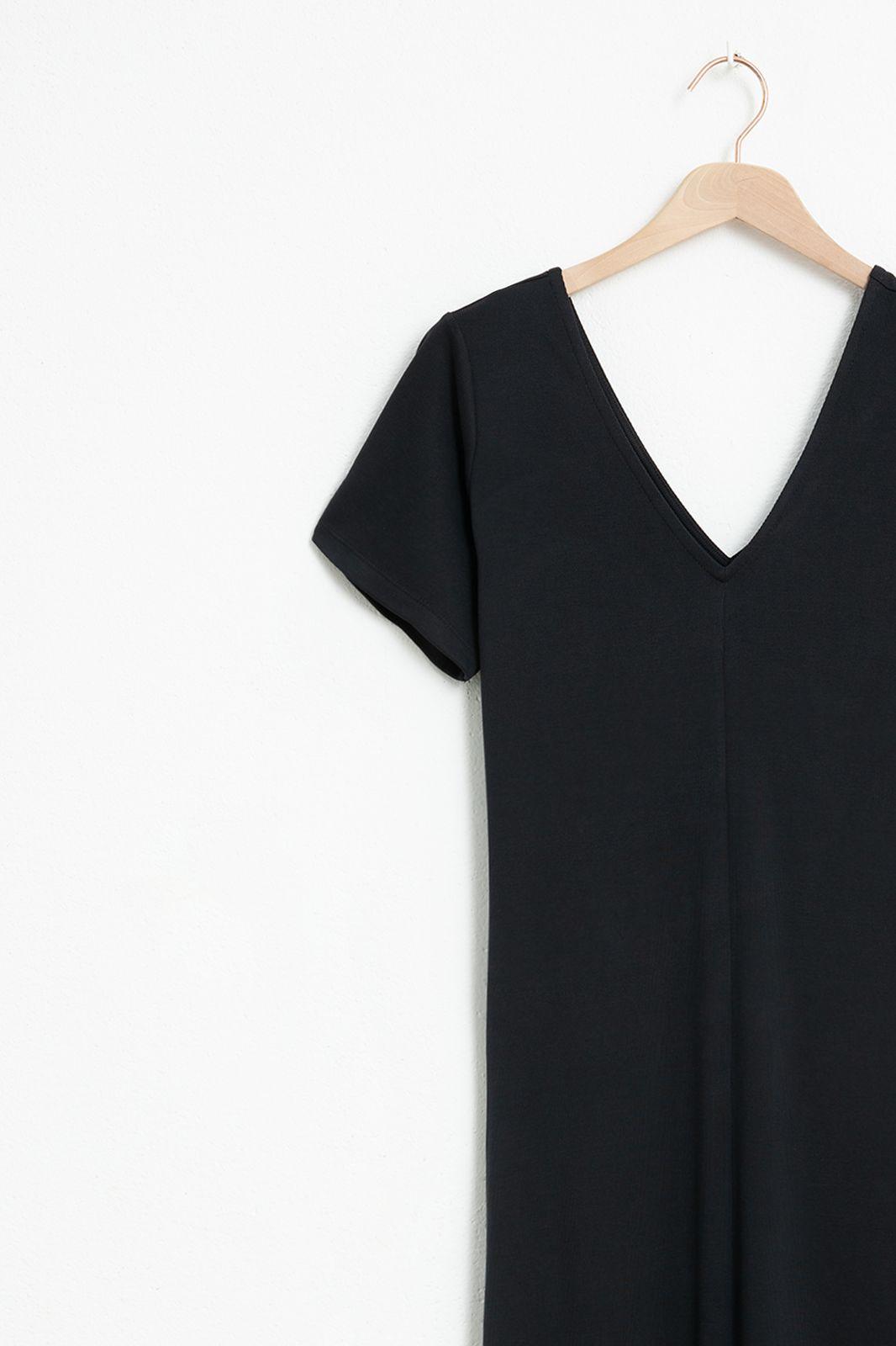 Zwarte basic maxi jurk