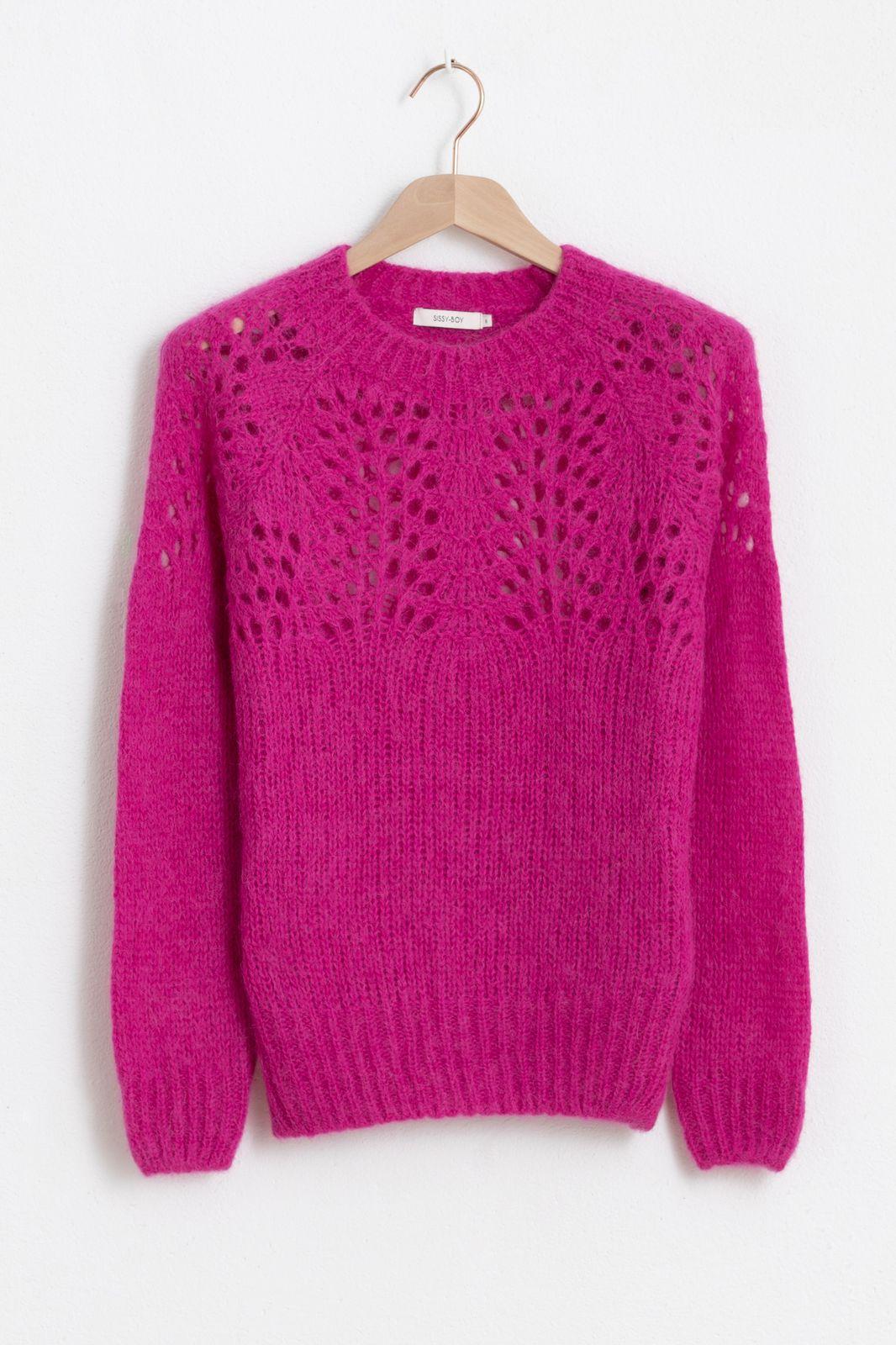 Donkerroze knit trui - Dames | Sissy-Boy