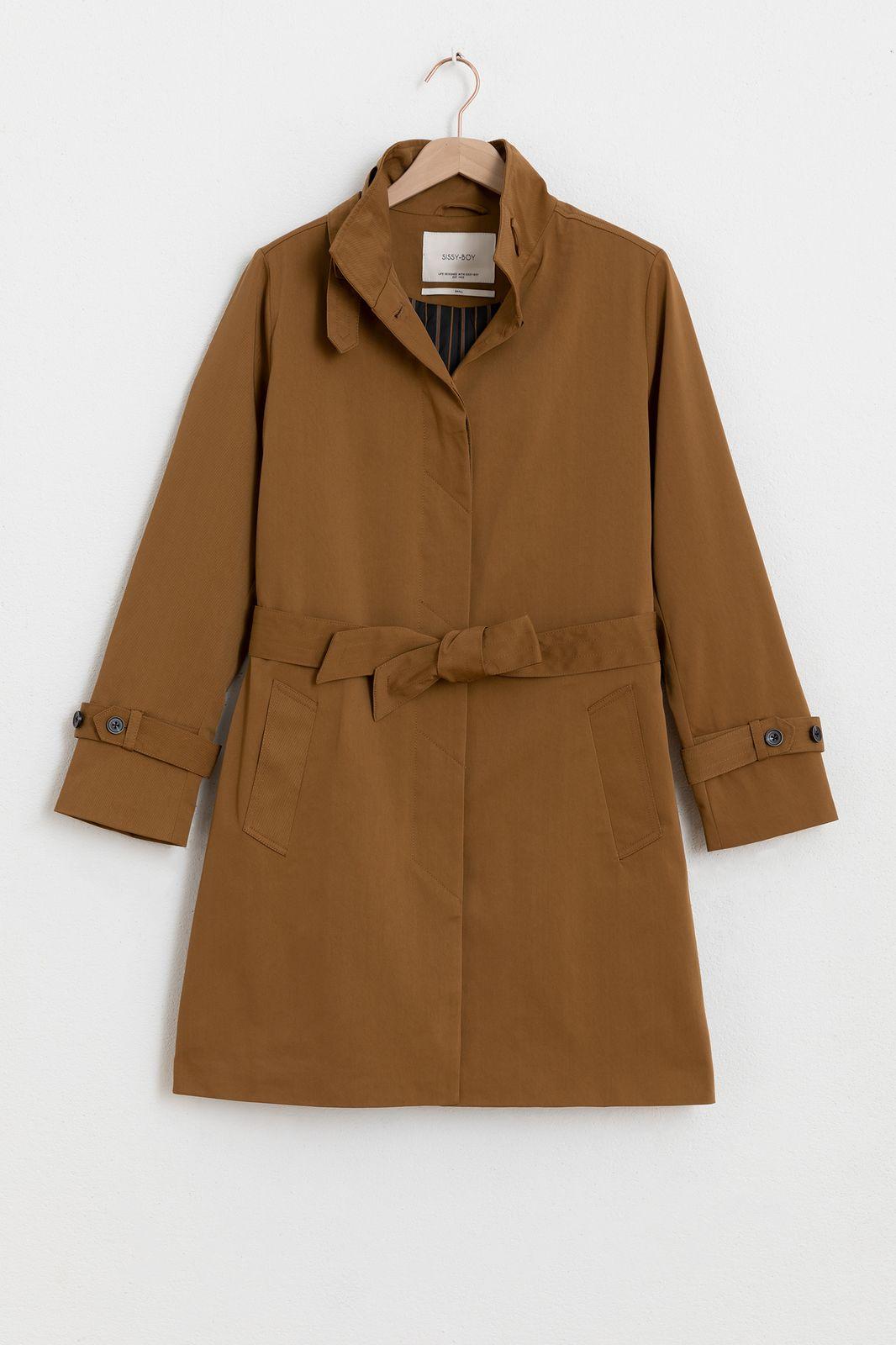 Bruine nylon twill coat - Dames | Sissy-Boy