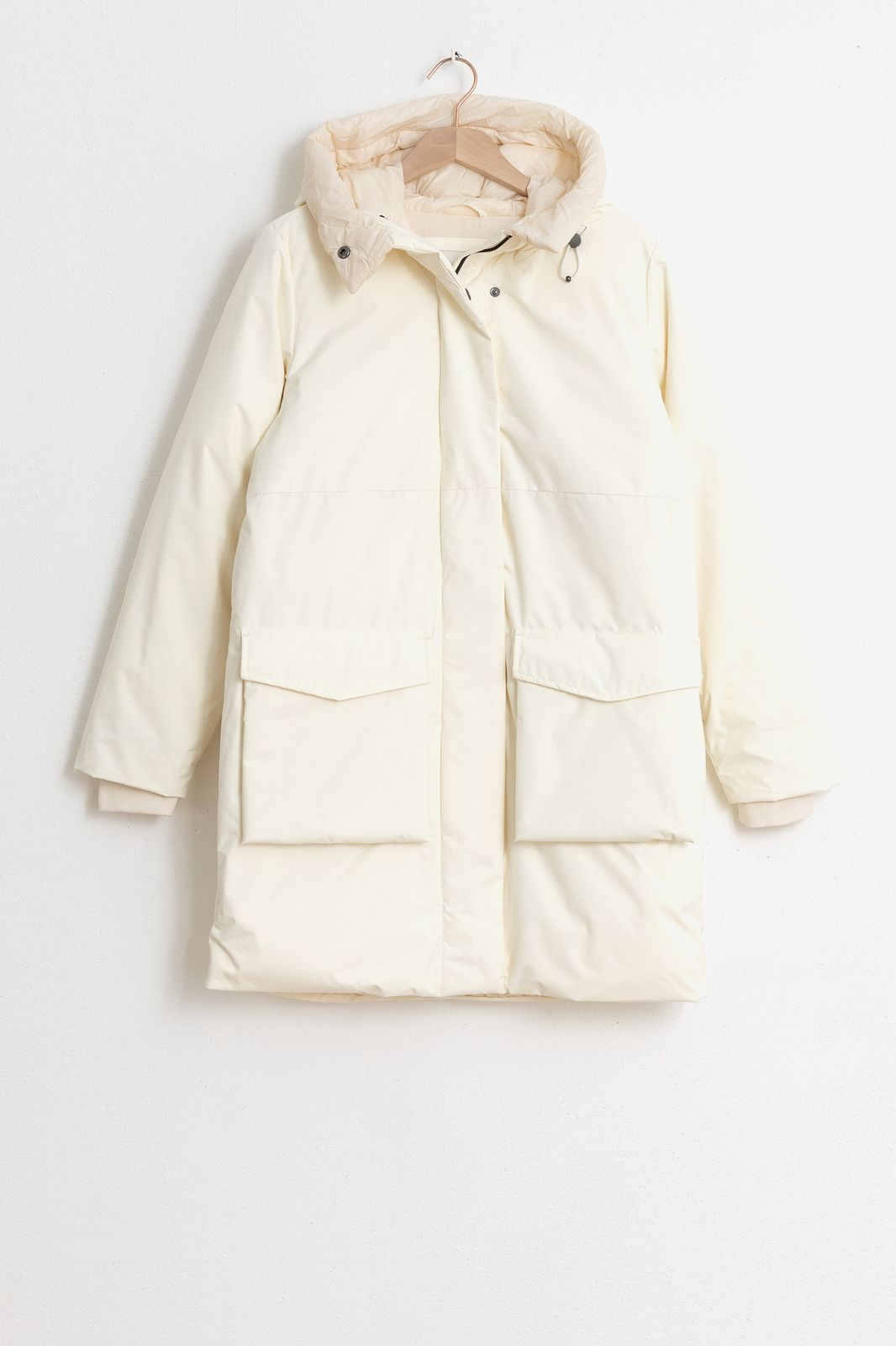Offwhite parka met capuchon - Dames | Sissy-Boy