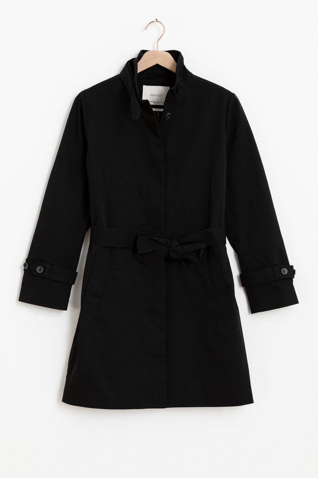 Zwarte nylon twill coat - Dames | Sissy-Boy