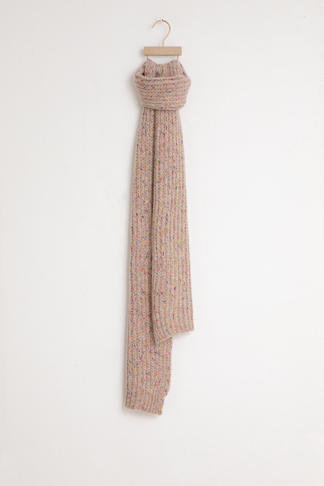 Roze grofgebreide sjaal - Dames | Sissy-Boy