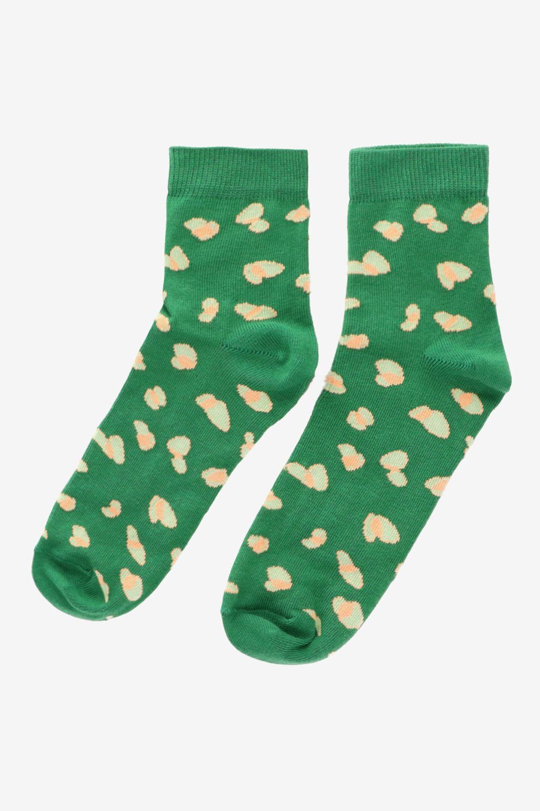 Groene sok met panterprint - Dames | Sissy-Boy