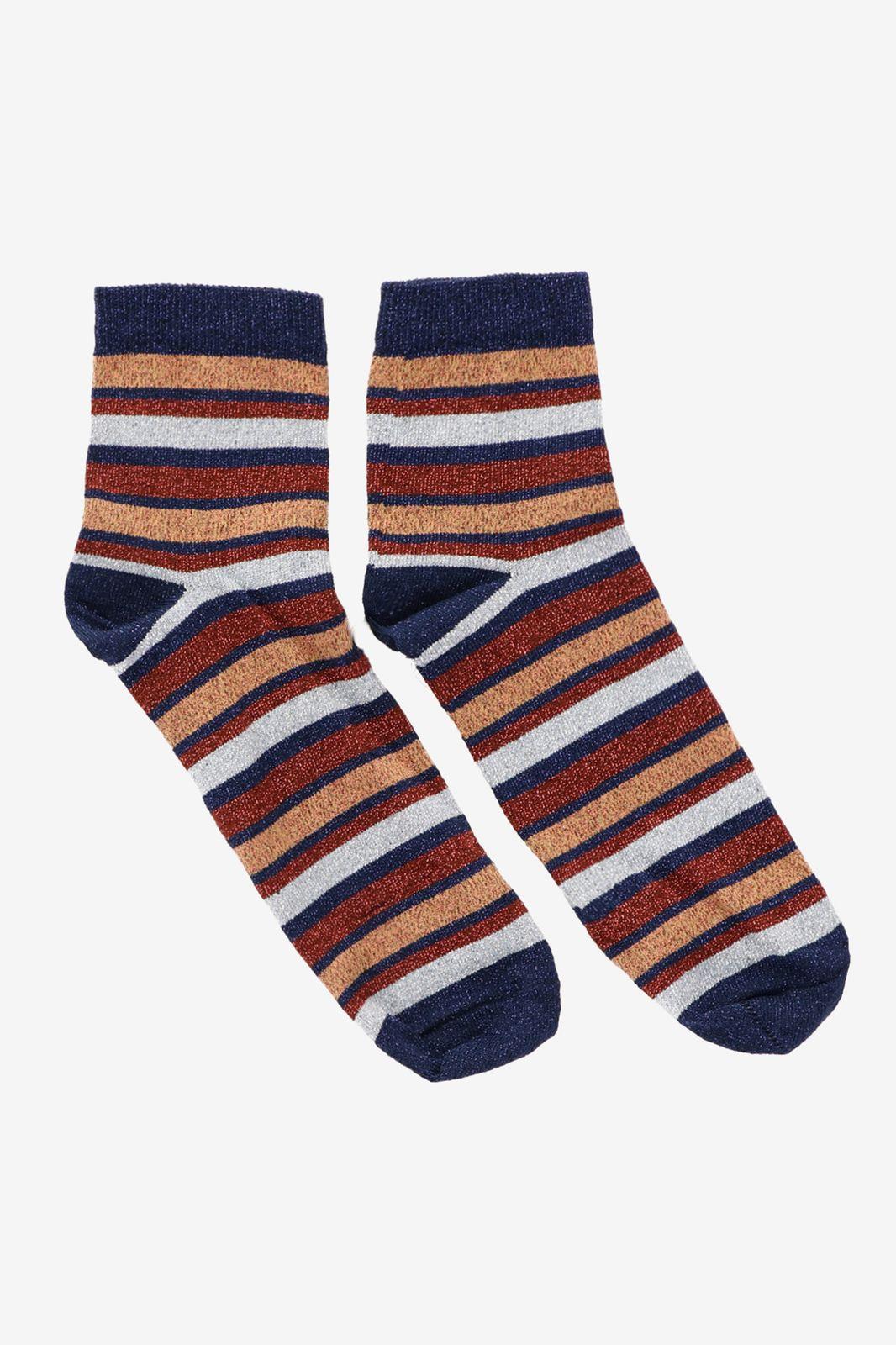 Gestreepte sokken met glitters - Dames   Sissy-Boy