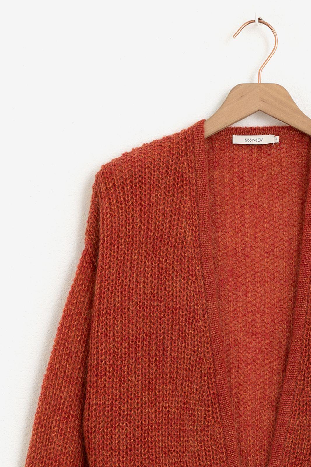 Rood vest met rib boorden - Dames | Sissy-Boy