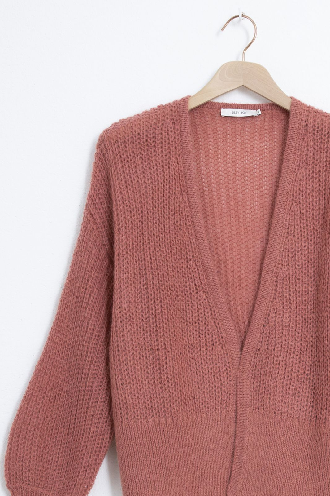 Roze gebreid vest - Dames | Sissy-Boy