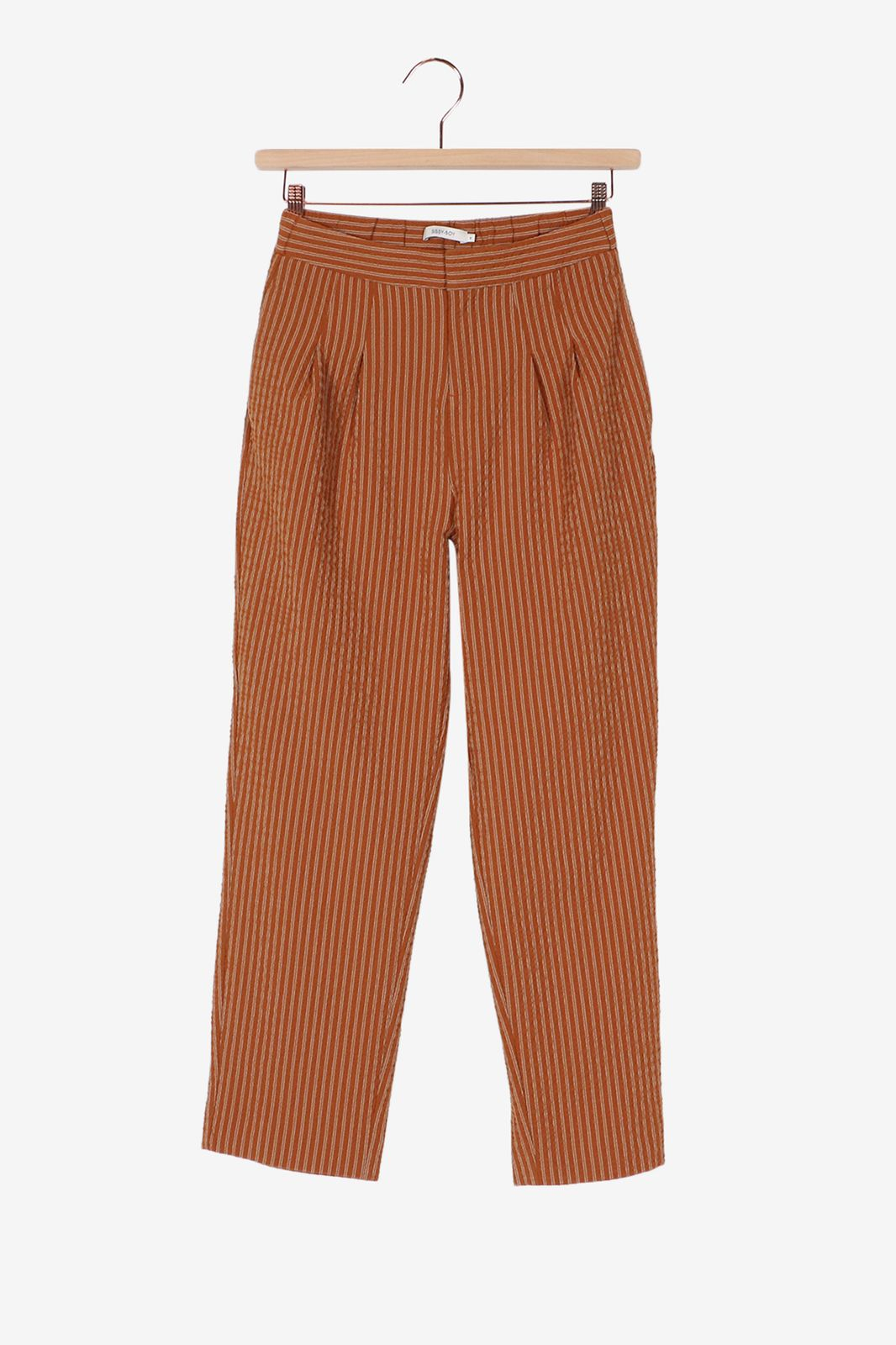Bruin gestreepte broek