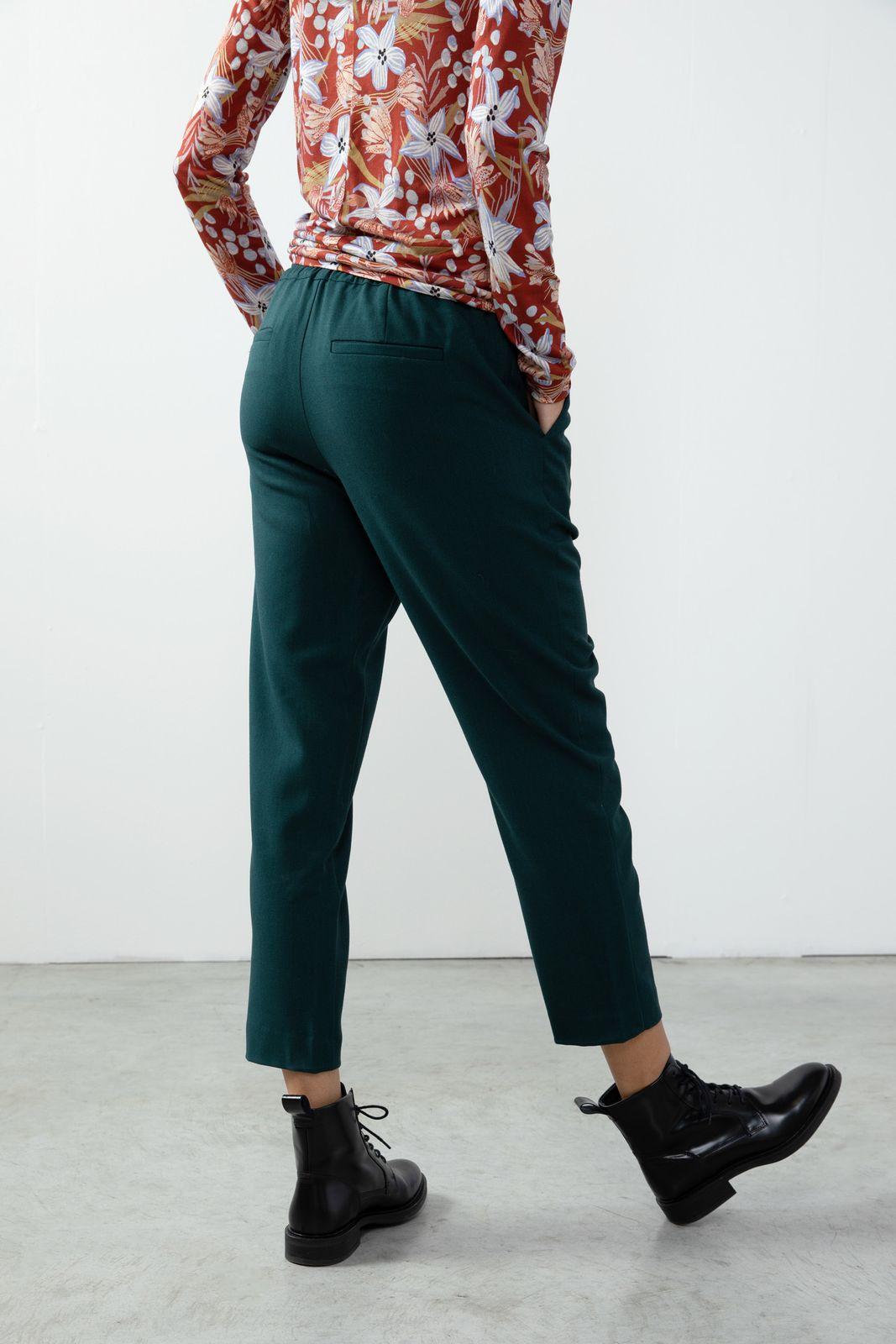 Donkergroene tapered jogger broek