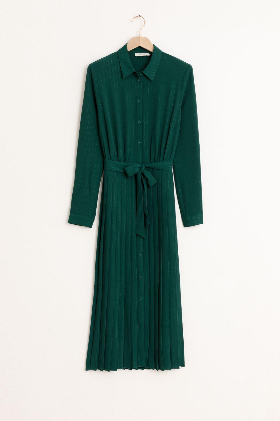 Groene plissé jurk - Dames   Sissy-Boy