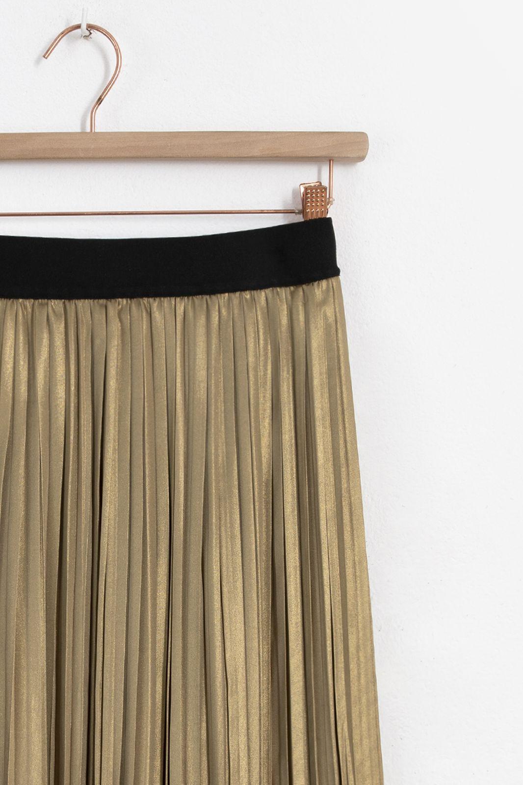 Gouden plissé rok