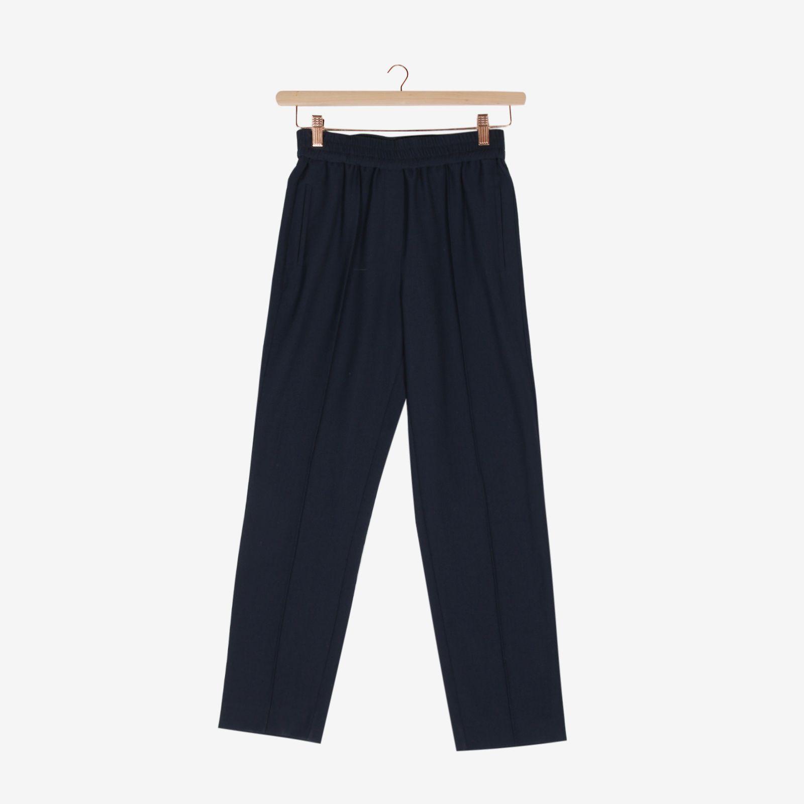 Blauwe tapered broek