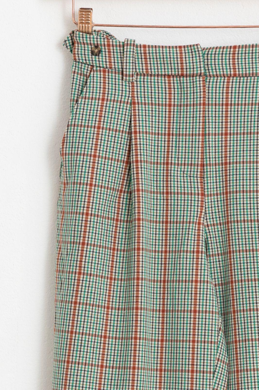Groene broek ruiten