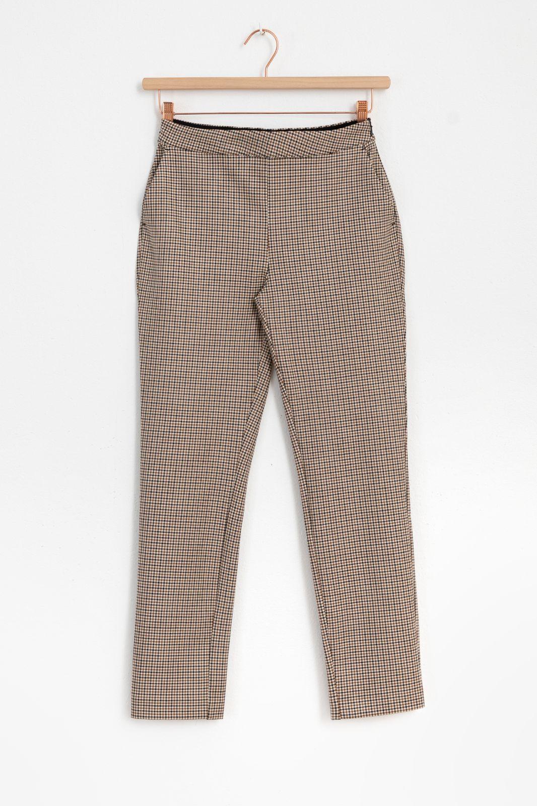 Multicolor geruite broek slim fit - Dames | Sissy-Boy