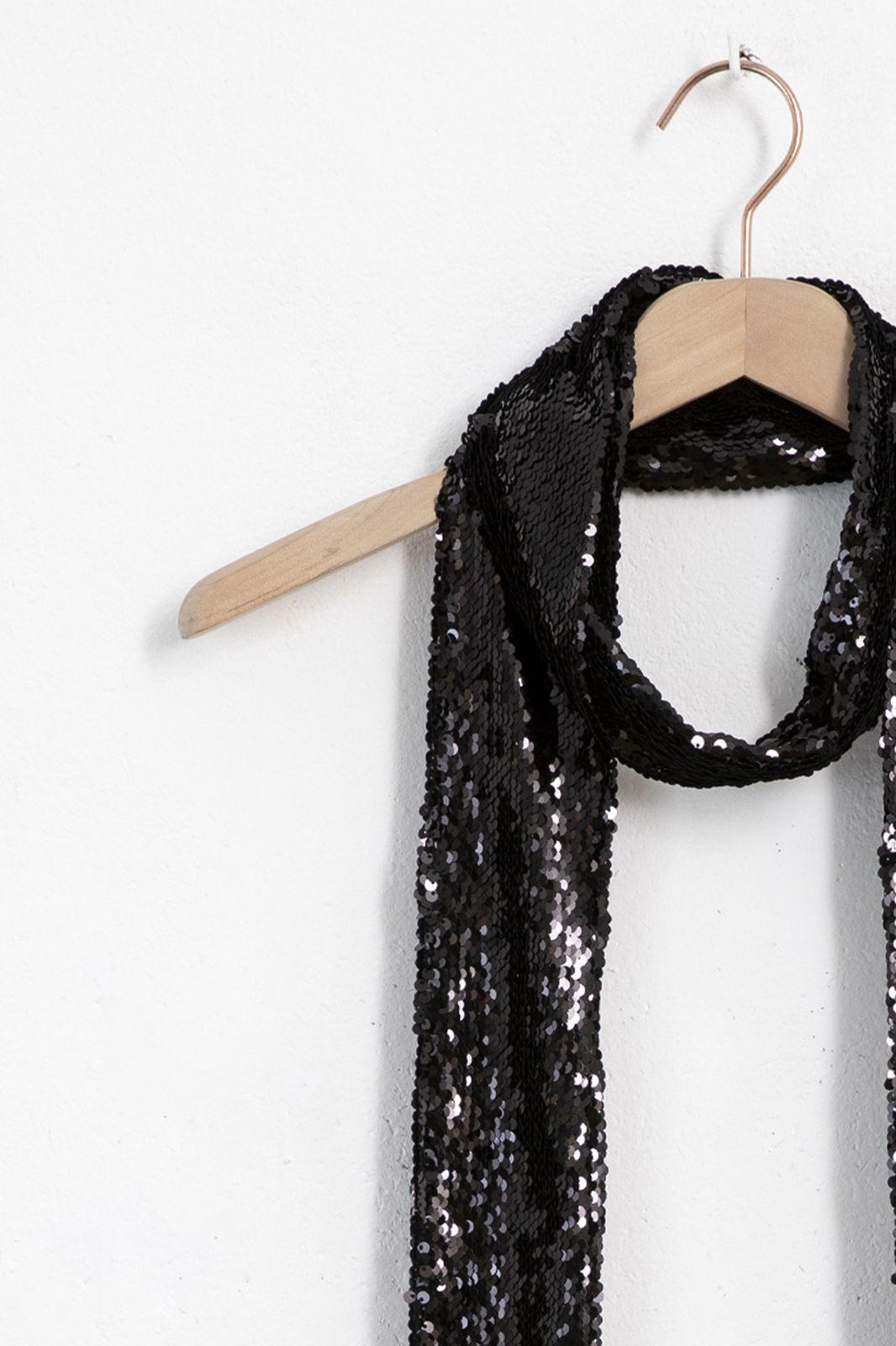 Zwarte sjaal met pailetten - Dames | Sissy-Boy