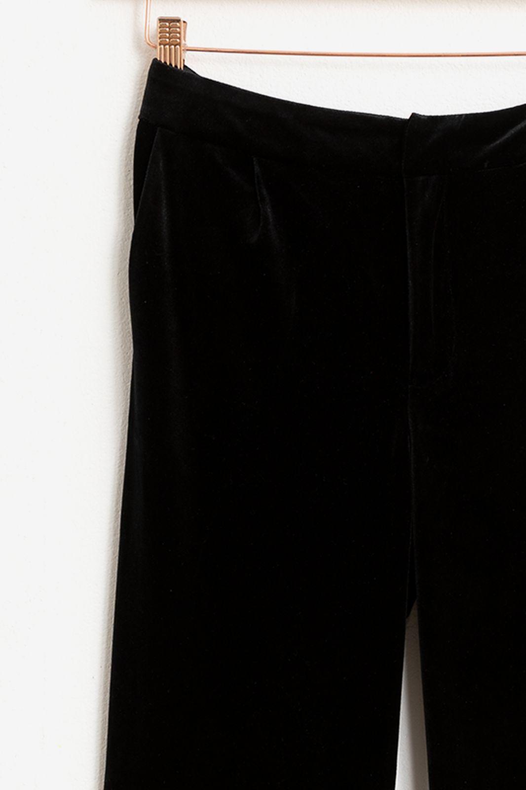 Zwarte velvet pantalon - Dames | Sissy-Boy