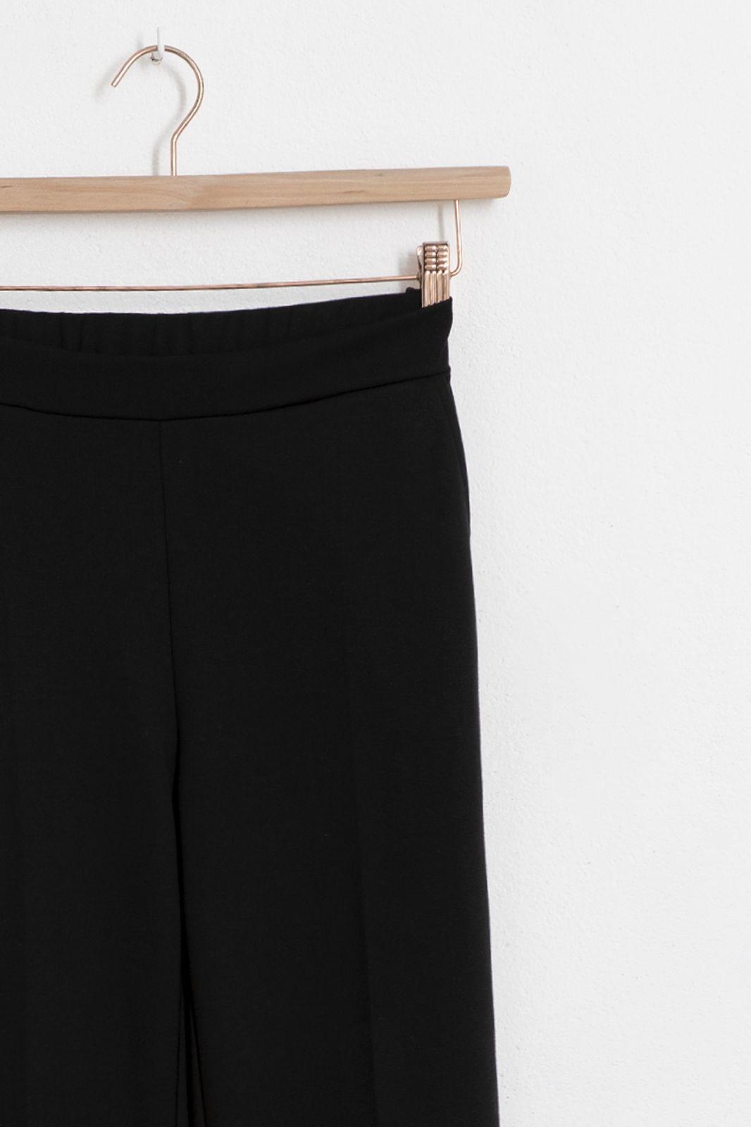 Zwarte jersey broek met split - Dames   Sissy-Boy