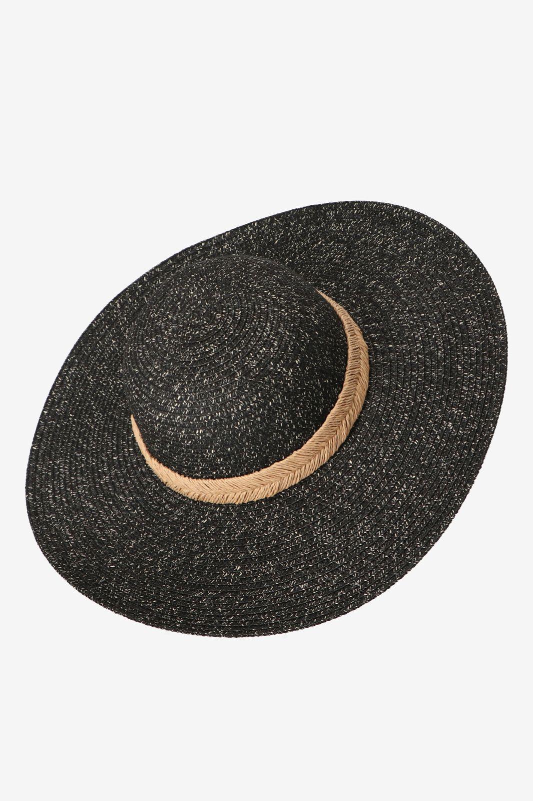 Zwarte rieten hoed