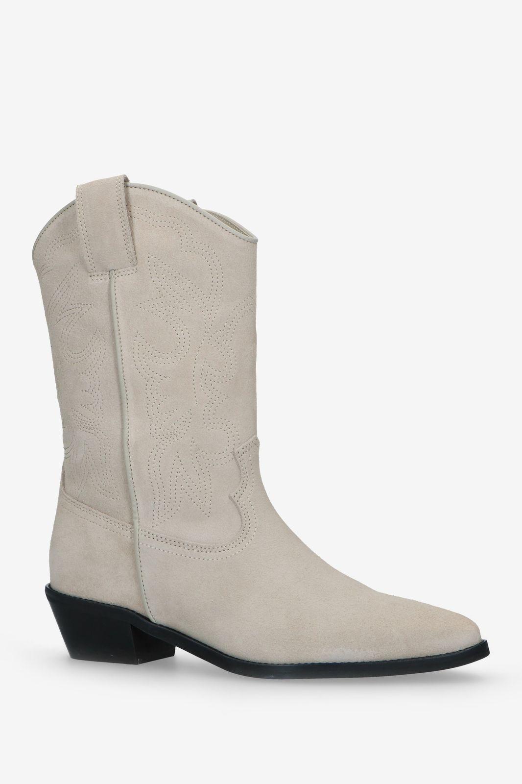 Beige western laarzen suède - Dames | Sissy-Boy