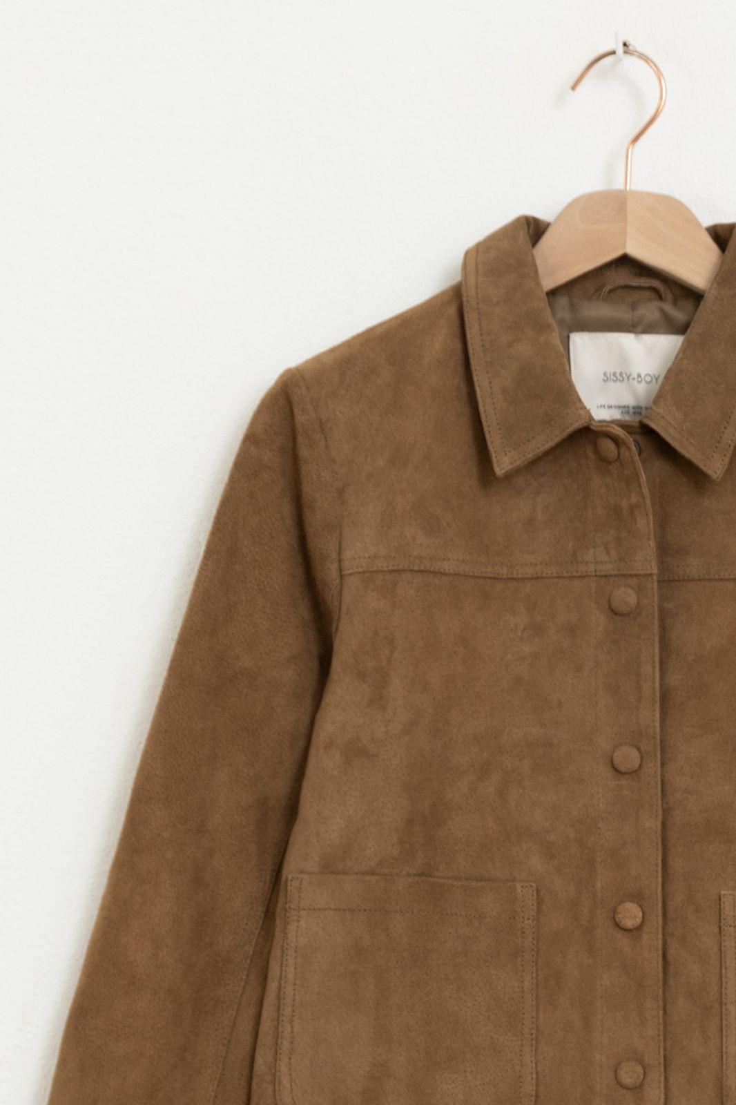 Bruin suède jasje