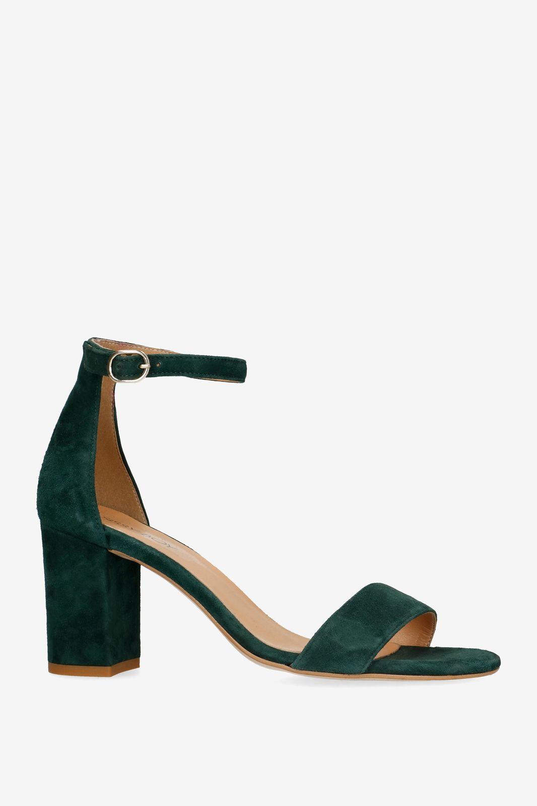Donkergroene sandalen met hak - Dames | Sissy-Boy