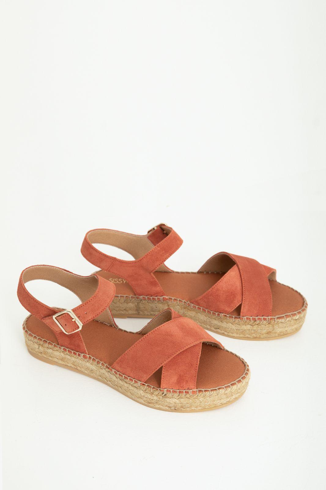Oranje espadrille sandalen - Dames   Sissy-Boy