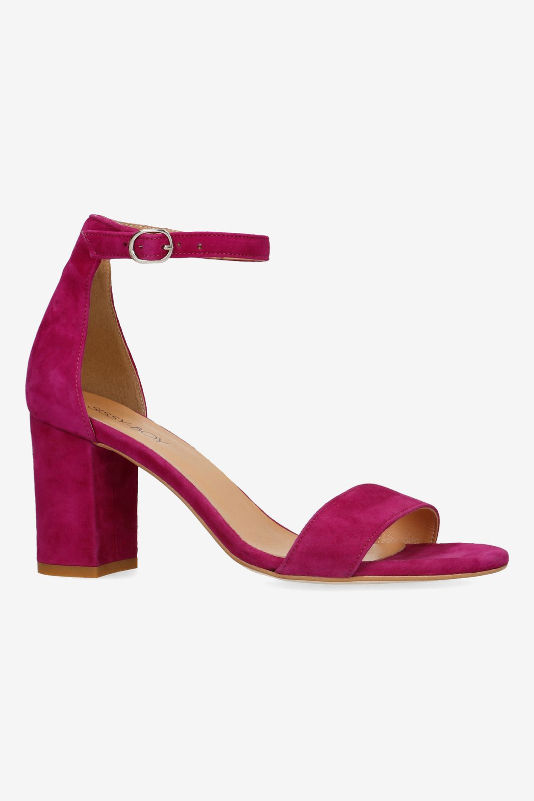 Fuchsia sandalen met hak
