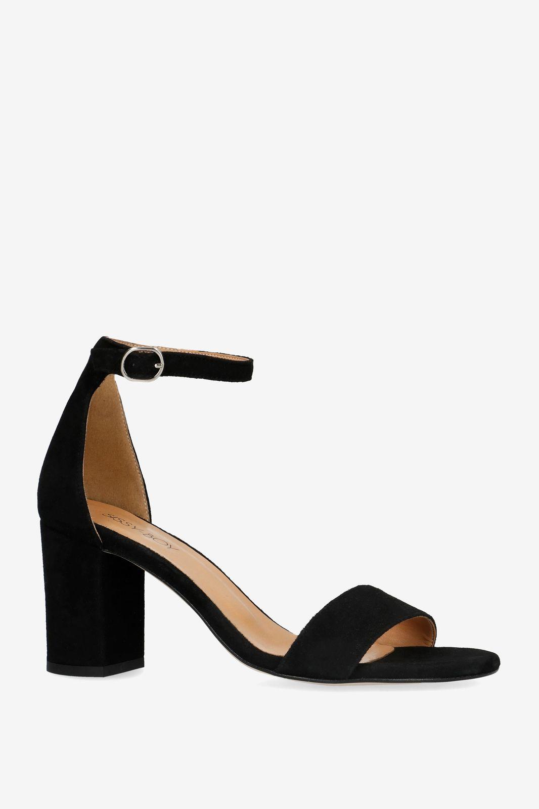 Zwarte sandalen met hak - Dames | Sissy-Boy